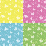 Retro naadloos patroon met kleurrijke harten Stock Foto