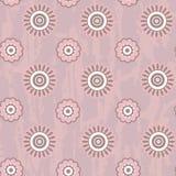 Retro naadloos patroon met ronde bloemen Royalty-vrije Stock Fotografie