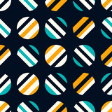 Retro naadloos patroon op donkere achtergrond Vector illustratie royalty-vrije illustratie