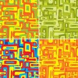 Retro naadloos patroon, vector stock illustratie