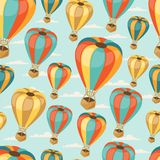 Retro naadloos reispatroon van ballons Stock Fotografie
