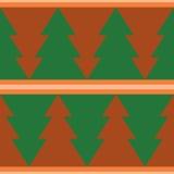 Retro naadloze achtergrond met het patroon van de Kerstmisboom Royalty-vrije Stock Fotografie