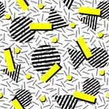 Retro naadloze het patroonachtergrond van de manierjaren '80 Stock Afbeelding
