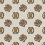 Retro naadloze patroon van de krabbelbloem Royalty-vrije Stock Foto's
