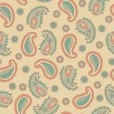 Retro naadloze patroon van Paisley Stock Afbeelding