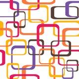 Retro naadloze patroonachtergrond met rond gemaakte vierkanten - Stock Afbeeldingen