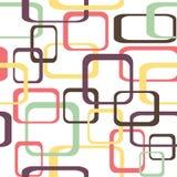 Retro naadloze patroonachtergrond met rond gemaakte vierkanten - Stock Fotografie