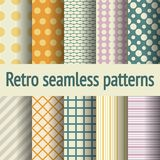 Retro naadloze patroonpastelkleur Royalty-vrije Stock Fotografie