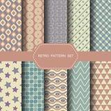 Retro naadloze patroonreeks, vector Stock Afbeelding