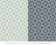 Retro- nahtlose Farbe Set_250 rundes Quer- Ketten-Kaleido des Muster-2 Lizenzfreies Stockbild