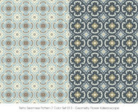 Retro- nahtlose Geometrie-Blume Kaleidosc des Muster-2 der Farbeset_013 Stockfoto