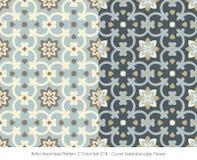 Retro- nahtlose Kurven-Kaleidoskop-Blume des Muster-2 der Farbeset_018 Lizenzfreies Stockfoto