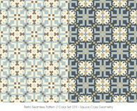 Retro- nahtlose Quadrat-Kreuz-Geometrie des Muster-2 der Farbeset_029 Lizenzfreies Stockfoto