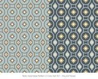 Retro- nahtlose runde Blume des Muster-2 der Farbeset_021 Stockfotografie