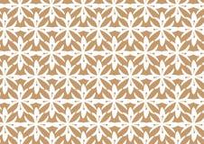 Retro- nahtloser Blumen-Muster-Hintergrund Browns stilisierter Stockfoto