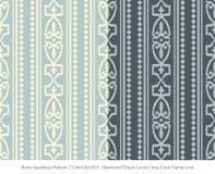 Retro- nahtloser Farbsatz Diamond Check Curve Cross des Hintergrund-2 Lizenzfreie Stockfotos