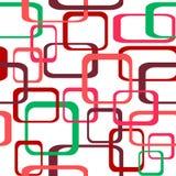 Retro- nahtloser Farbvektor-Musterhintergrund mit den Quadraten - gerundet Stockfotografie