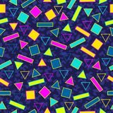 Retro- nahtloser Hintergrund des Musters 80s Lizenzfreies Stockfoto