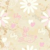 Retro- nahtloser Hintergrund des Schätzchens mit Papier Lizenzfreies Stockbild
