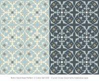 Retro- nahtloser Kurven-Kreuz-Geometrie-Kohl des Muster-2 der Farbeset_030 Stockfotos