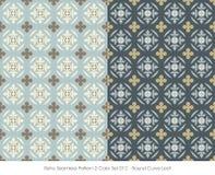 Retro- nahtloses Kurven-Blatt des Muster-2 rundes der Farbeset_012 Stockbilder