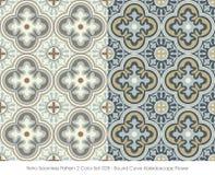Retro- nahtloses Kurven-Kaleidoskop des Muster-2 rundes der Farbeset_028 Stockbild