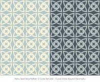 Retro- nahtloses Kurven-Kreuz rundes Geometr des Muster-2 der Farbeset_244 Stockfoto