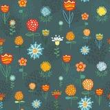 Retro- nahtloses mit Blumenmuster Lizenzfreies Stockbild