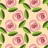 Retro- nahtloses mit Blumenmuster lizenzfreie stockbilder