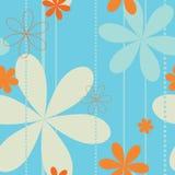 Retro- nahtloses mit Blumenmuster Lizenzfreies Stockfoto