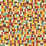 Retro- nahtloses Muster mit Kreisen. Lizenzfreie Stockfotos