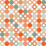 Retro- nahtloses Muster mit Kreisen und Sternen Lizenzfreies Stockfoto