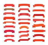 Retro nastri differenti di rosso di stile Fotografia Stock