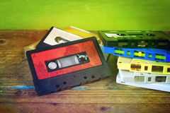 Retro nastro a cassetta Fotografie Stock Libere da Diritti