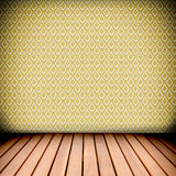 Retro Native Thai Style Wall And Wood Floor Stock Image
