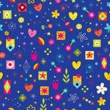 Retro nature abstract art swatch. Seamless pattern Stock Photo