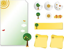 Retro Nature Kit Stock Images