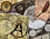 Retro navigation Stock Photography