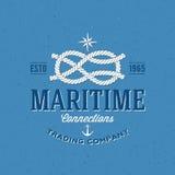 Retro Navy Trading Company Vector Label or Logo Royalty Free Stock Photo