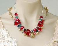 Retro Necklace On Mannequin Royalty Free Stock Images