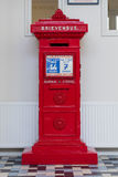 Retro Nederlandse rode brievenbus Stock Foto's