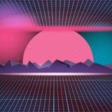 Retro Neon Background Design illustration Vector Royalty Free Stock Photos