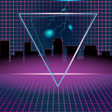 Retro Neon Background Design Triangle Vector Royalty Free Stock Images