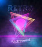 Retro Neon Background. 1980 Neon Poster. Retro Disco 80s Backgro Royalty Free Stock Photography