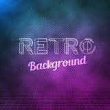 Retro Neon Background. 1980 Neon Poster. Retro Disco 80s Background Stock Photography