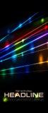 Retro neon glowing colorful laser beams vector flyer cover stock illustration