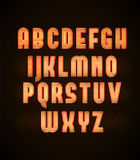 Retro neon glowing font eps 10 Stock Image