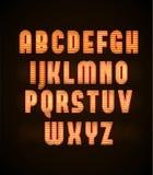 Retro neon glowing font eps 10 Stock Image