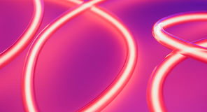 Retro neon lamps Royalty Free Stock Image