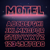 Retro Neon Light Font Royalty Free Stock Photo